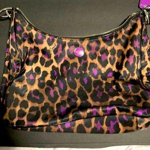 Ocelot Print Canvas Hobo coach purse